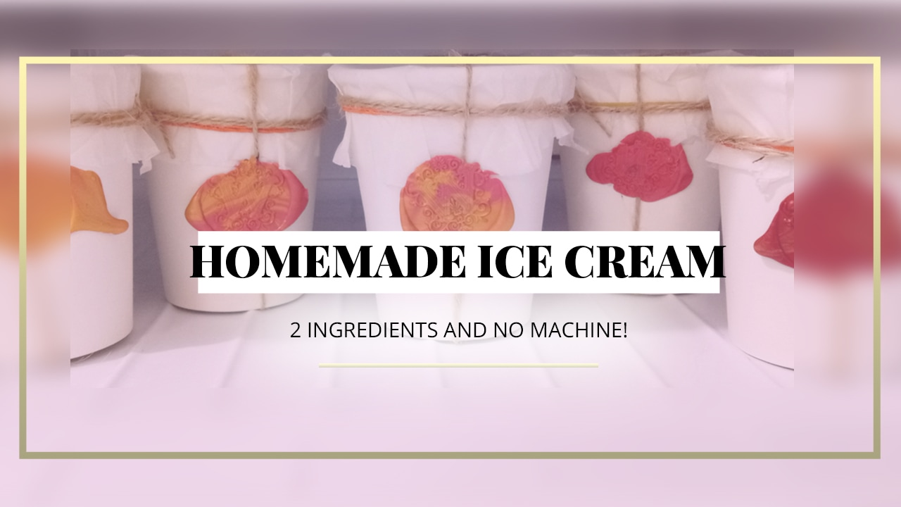how to make homemade ice cream 2 ingredients